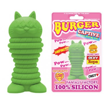 Burger Cat Pow Green