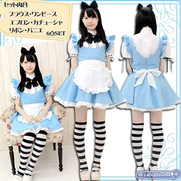 Otokonoko Alice in Wonderland Costume (fits Men)