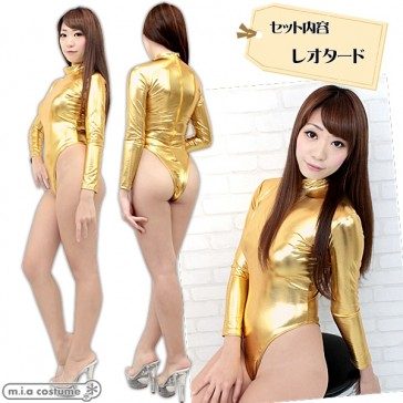 Otokonoko High-Cut Leotard Gold (fits Men)