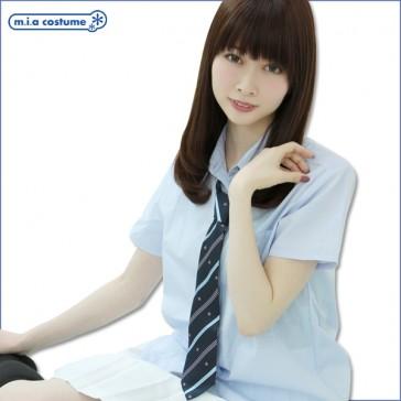 Otokonoko School Uniform Blouse Light Blue (fits Men)