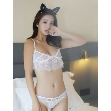 White Sexy Lingerie Set with Oriental Aroma Bag