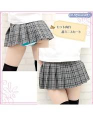 Otokonoko Pleated Plaid Skirt Gray/Black (fits Men)