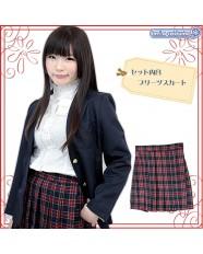 Otokonoko Pleated Plaid Skirt Navy/Red (fits Men)