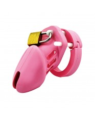 Silicon Male Chastity Device Short/Pink